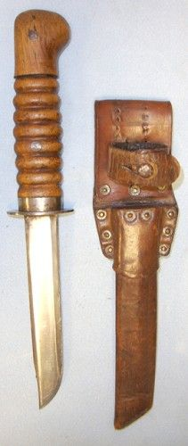 Very Rare, Original WW2 German Fighting Knife Officially Converted During WW2 From Captured Dutch Weapon & Sheath. ED 2202 | Militaria | WAR...