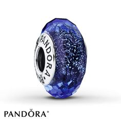 Irdescence Sterling Silver | Add tantalizing shine to your bracelet with this unique Murano glass design from the PANDORA 2015 Winter collection. The rich blue hue has a captivating iridescent effect, which changes according to the angle of view. Style # 791646.
