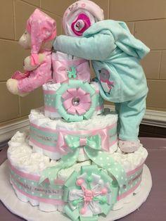 Diaper Cake Full Baby Standing Diaper Cake Baby Shower