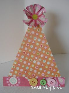 Party Hat Card~ Small Fry & Co. : Birthday Card Week -Card #1