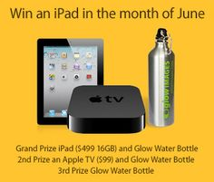 There's still time! Get into the June drawing! Glow Water, Cheap Web Hosting, Ecommerce Hosting, Apple Tv, Water Bottle, Ipad, June, Drawing, Summer