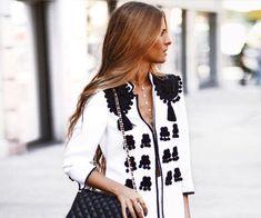 Aplique pasamanería blazer - Look fiesta -  www.mercerialacostura.com