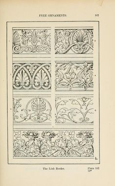 A handbook of ornament Free ornaments  the link border page 163