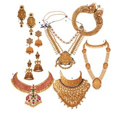 The most stunning temple jewellery of the season South Indian Jewellery, Indian Jewelry, Manubhai Jewellers, Royal Indian, Neck Piece, Temple Jewellery, Gold Beads, Bridal Jewelry, Diamond Earrings