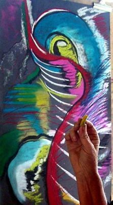 Pastel Abstract drawing