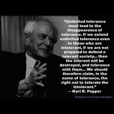 Karl Popper intolerance 2