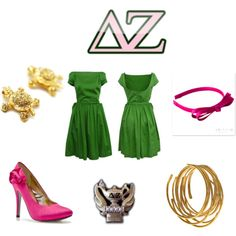 Badge attire. again, not a DZ, but I love what these ladies have put together. Class and style! Panhel love!