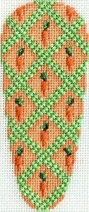 carrot needlepoint, designer unknown