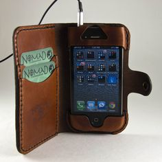 Leather iPhone Wallet via Etsy.