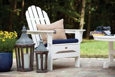 Maintenance Free Folding Adirondack Chair. Leave outside year round never, you never have to store again! 20 Year Warranty. Buy Online Today. Free Shipping!