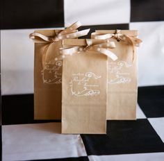 For candy buffet. Take regular cheap brown bag, draw on them or write and add cute labels!