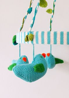 Super cute mobile...if only I could knit :-(