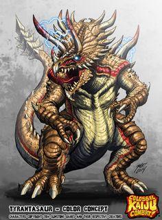Colossal Kaiju Combat - Tyrantasaur by KaijuSamurai.deviantart.com on @DeviantArt