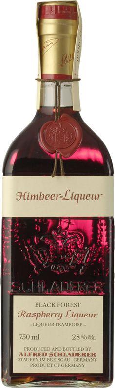 Schladerer Himbeer Raspberry Liqueur Bottle