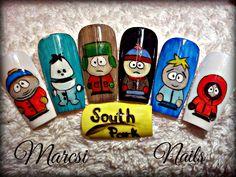 South Park Nails South Park, Skateboard, Nail Designs, Nail Art, Nails, Beauty, Skateboarding, Nail Desighns, Finger Nails