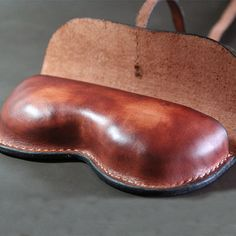 Hand Stitched Leather Glasses Case sunglasses by FocusmanLeather