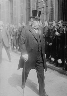 Georges Clemenceau, Prime Minister of France at the close of World War I. Instrumental figure in drafting the Treaty of Versailles. http://www.assemblee-nationale.fr/histoire/Clemenceau_1891.asp