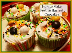 How to Make Festive Harvest Cupcakes #BakeInTheFun #CollectiveBias #ad