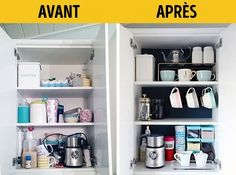 Trendy Home Organization Ideas Closet Organisation 61 Ideas Closet Organisation, Home Organization Hacks, Kitchen Organization, Kitchen Storage, Organizar Closet, Ideas Para Organizar, Drawer Dividers, Small Room Bedroom, Konmari