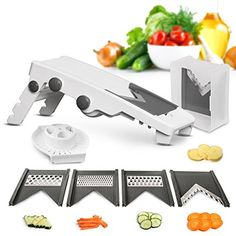 Mueller VPro 5 Blade Mandoline Slicer  German Quality Professional Grade Vegetable Julienner  Patented Design for Maximum Adjustability * Click image to review more details.