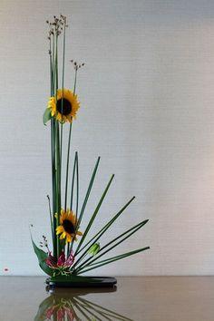 Ikebana art sunflower