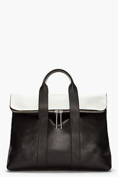 378a67a8a1 3.1 Phillip Lim black and white Hour Bag - ShopStyle. Fashion BeltsBest  HandbagsMe ...