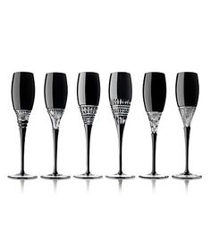 Black Champagne Flutes | Waterford black champagne flutes