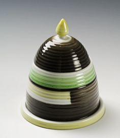 Honey jar by Nora Gulbrandsen for Porsgrund Porselen Art Deco, Art Nouveau, 1930s House, Nordic Design, Modern Classic, Bauhaus, Feng Shui, Norway, Honey