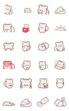Emoji Drawings, Kawaii Drawings, Easy Drawings, Doodle Characters, Cute Characters, Kawaii Doodles, Cute Doodles, Cute Doodle Art, Cute Art