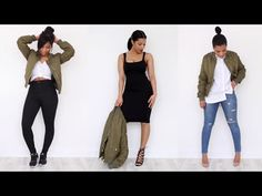 HOW I WEAR: The Khaki Bomber Jacket | LOOKBOOK - YouTube