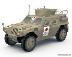 Paper model armored JGSDF Komatsu LAV