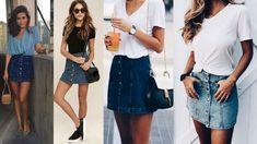 С чем носить джинсовые юбки: юбку-карандаш, юбку на пуговицах, юбку-трапецию и другие модели  Фото-обзор модных образов: https://www.yh-ti.ru/2018/05/s-chem-nosit-dzhinsovuyu-yubku/
