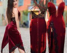 Velvet black Tango Dress