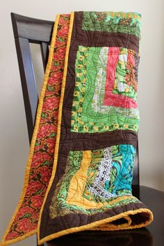 Extra Soft Lap Quilt made with Tula Pink Nest by TheDesertQuilter, $145.00
