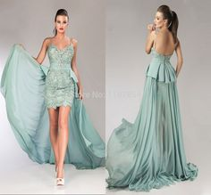 Glamorous High Low Chiffon Long Formal Evening Dress Spaghetti Strap Sweetheart Backless Sexy Evening Gown With Peplum Beaded