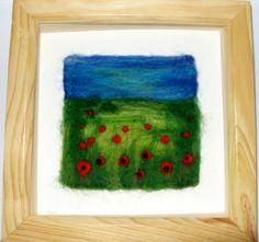 Poppy Field Needle Felted Framed Picture £25.00