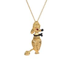 Les Néréides - Seconde Chance - Golden Poodle Necklace