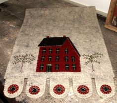 penny runners   Penny rug style runner...cute!   craft ideas