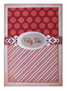 Another cute girly card in pinks. #dots #stripes #cute #lace #distressed