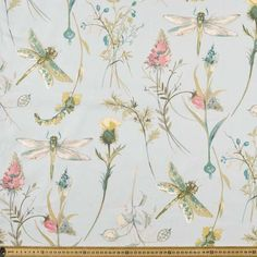 Make a statement with your next curtain creation thanks to this bright colourful Dragonfly Curtain Fabric. Brown Paper Packages, Curtains With Blinds, Fabulous Fabrics, Curtain Fabric, Sewing Crafts, Mint, Color, Floral Patterns, Spare Room
