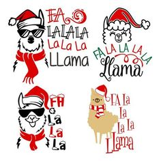 Llama Christmas, Christmas Truck, Etsy Christmas, Christmas Shirts, Christmas Projects, Kids Christmas, Christmas 2017, Silhouette Projects, Silhouette Design