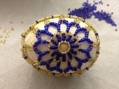 Osterei aus Glasperlen. Einfache Schema. Teil 1/2. Easter egg out of beads.