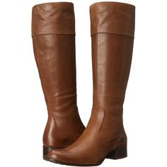 Born Asbee Women's Shoes, Brown ($160) ❤ liked on Polyvore featuring shoes, boots, brown, side zip boots, long brown boots, leather upper boots, brown knee high boots and riding boots
