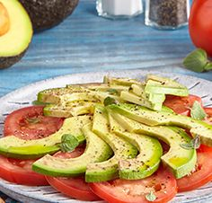 Avocado Salad Center I Avocados From Mexico Salad Recipes Healthy Lunch, Tomato Salad Recipes, Avocado Tomato Salad, Easy Salads, Healthy Salad Recipes, Avocados From Mexico, Homemade Honey Mustard, Best Vitamin C, Party Food Platters