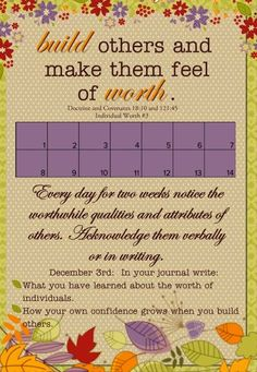 Individual Worth #3  Personal Progress