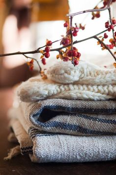 cozy fall blankets. soft autumn throws.