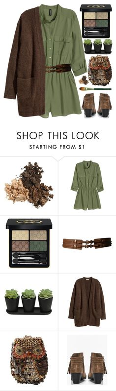 """""""Accessories"""" by grozdana-v ❤ liked on Polyvore featuring H&M, Gucci, Etienne Aigner, Kofta, Mary Frances Accessories, Boohoo and Origins"""