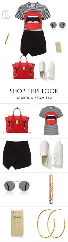 """""""Red lips"""" by micha-p ❤ liked on Polyvore featuring 3.1 Phillip Lim, Yazbukey, Forever New, Gap, Prada, Yves Saint Laurent, Kate Spade and Dyrberg/Kern"""