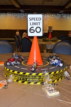 Motorcycle Party Centerpiece