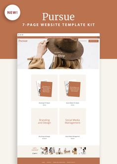 Pursue Squarespace Template Kit — Productive and Free Buy A Kitten, Media Kit Template, Build Your Own Website, Branding Kit, Web Design Inspiration, Website Template, Templates, Free, Cats